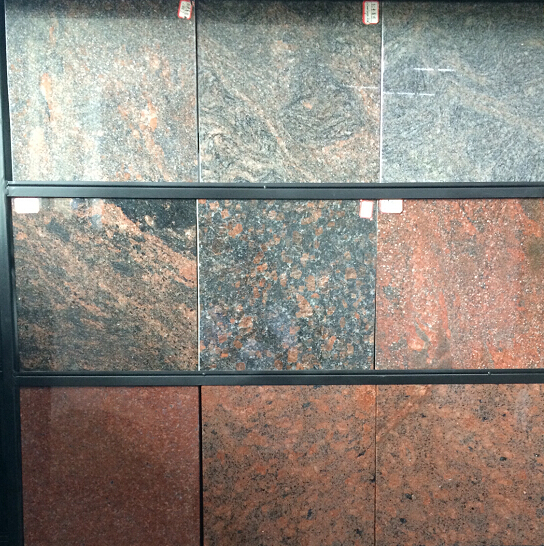 Granite floor tile colors