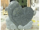 Blue Pearl Heart Headstone With