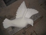White Marble Carved Dove