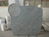 Green Granite Flamed/Brushed Headstone Is